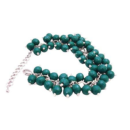 Customize Bracelet Fashion Jewelry For Everyone Green Beads Cluster