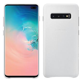 Samsung leather cover white for Samsung Galaxy S10 plus G975F EF-VG975LWEGWW bag case protective cover