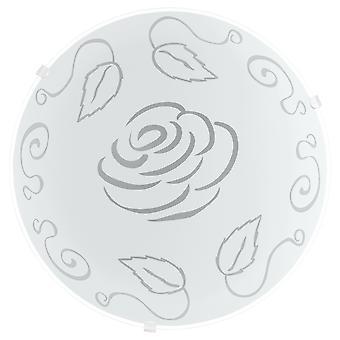 Eglo - Mars1 1 luce tradizionale a filo parete/soffitto in vetro satinato circolare luce rosa decorazione EG89238