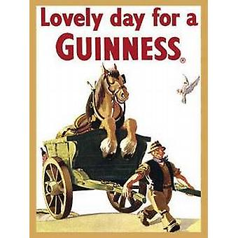 Guinness ''Horse & Cart'' steel fridge magnet
