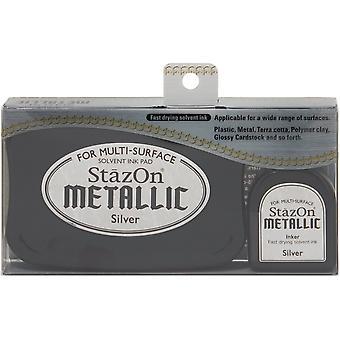 StazOn Metallic Solvent Ink Kit-Silver