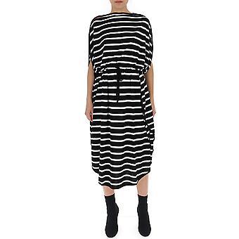 Mm6 Maison Margiela White/black Cotton Dress