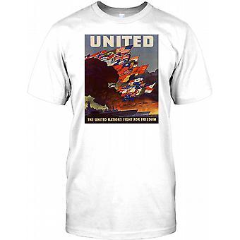 United - United Nations Allie - WW2 plakat Mens T-skjorte