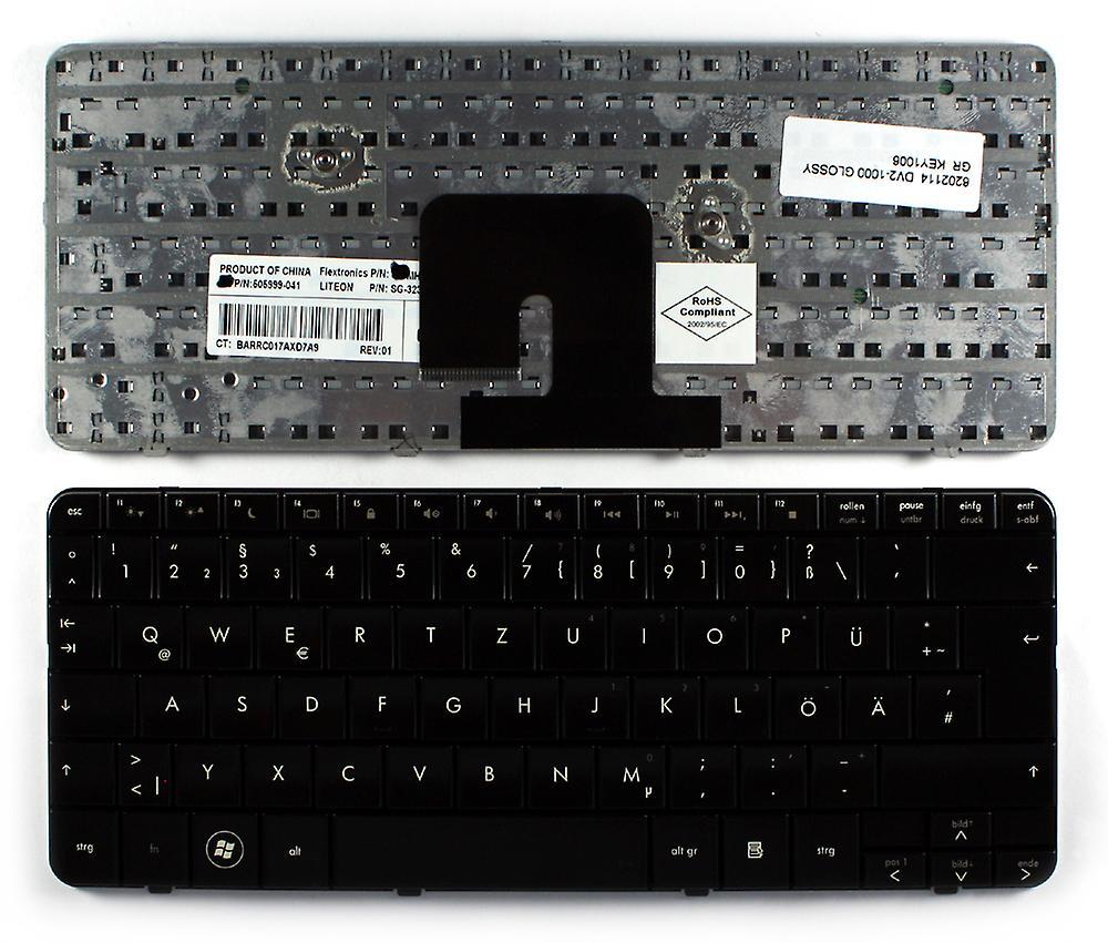 HP Pavilion dv2-1020ep Glossy noir allehommed Layout remplacement clavier d'ordinateur portable