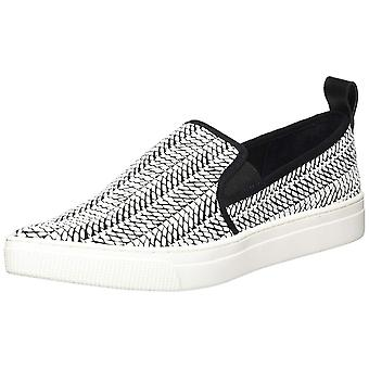 Dolce Vita Womens Geoff Leather Low Top Slip On Fashion Sneakers
