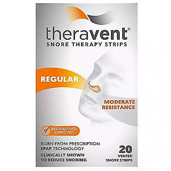 Theravent snore therapy strips, regular, 20 ea