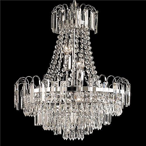 Endon 96826-CH Amadis Elegant Chrome 6 Light Crystal Glass Chandelier