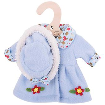 Bigjigs Toys Flowery Doll Coat and Hat (28cm) Clothing Outfit Dress Up