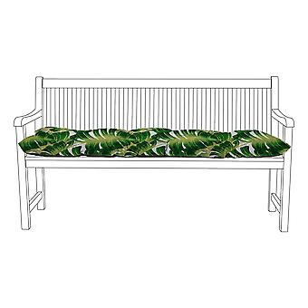 Gardenista® Water Resistant Palm Print Tufted 2 Seater Bench Kissen