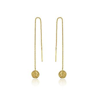 Ania Haie Gold Plated Sterling Silver Coins 'Deus' Drop Earrings