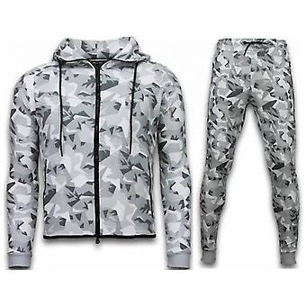 Exclusive Windrunner Camo Trainingspakken - Camouflage Joggingpak - Wit