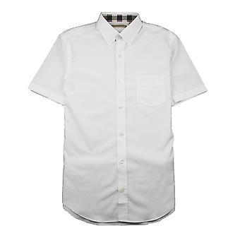 Chemise à manches courtes Burberry Cambridge Blanc