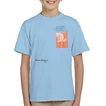 A.P.O.H William Shakespeare Writing Portrait Kid's T-Shirt