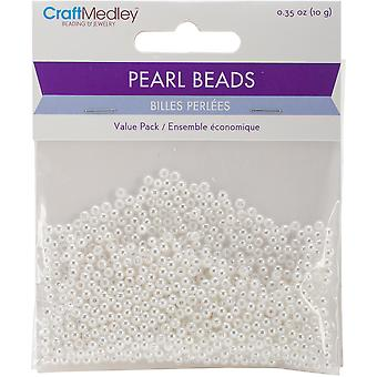 Pearl Beads Value Pack -3mm White 850/Pkg BD409-A