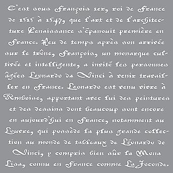 Americana Decor Stencil Old French Script Ads 10