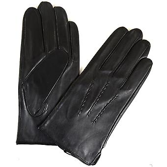 Mens Leather Buckle Glove with Fleece Lining