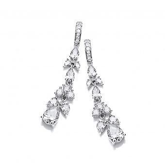 Cavendish French Cubic Zirconia Victorian Floral Earrings