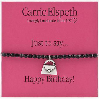 Carrie Elspeth bare for at sige tillykke med fødselsdagen håndtaske armbånd
