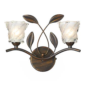 Dar Prunella PRU0963 Traditional Wall Lights Double