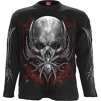 Spiral Direct Gothic SPIDER SKULL - Longsleeve T-Shirt Black|Spider|Skulls|Tribal