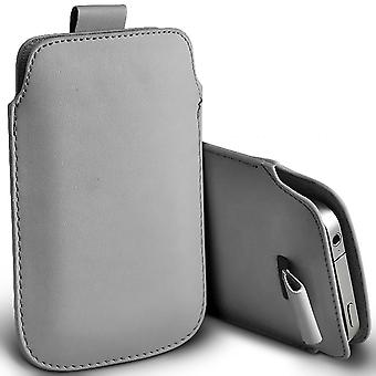 ( Grey ) Pouch Case For iDECT Smart 64 case Premium Stylish Faux Leather Pull Tab Pouch Skin Case Various Colours To Choose FromiDECT Smart 64 Cover By i-Tronixs