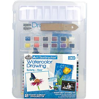 Art Instructor Watercolor Pencil Drawing Clearview Art Set-Small - 30pc RWPN3106