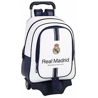 Real Madrid Large Backpack With Wheels Equipment 1st 16-17