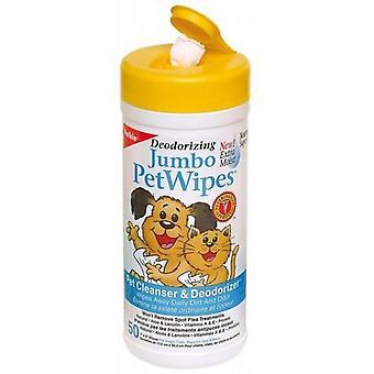 Wipes Pet Jumbo 50Pk (Petkin) Eco