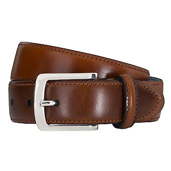 SAKLANI & FRIESE belts men's belts leather belt Cognac 5127