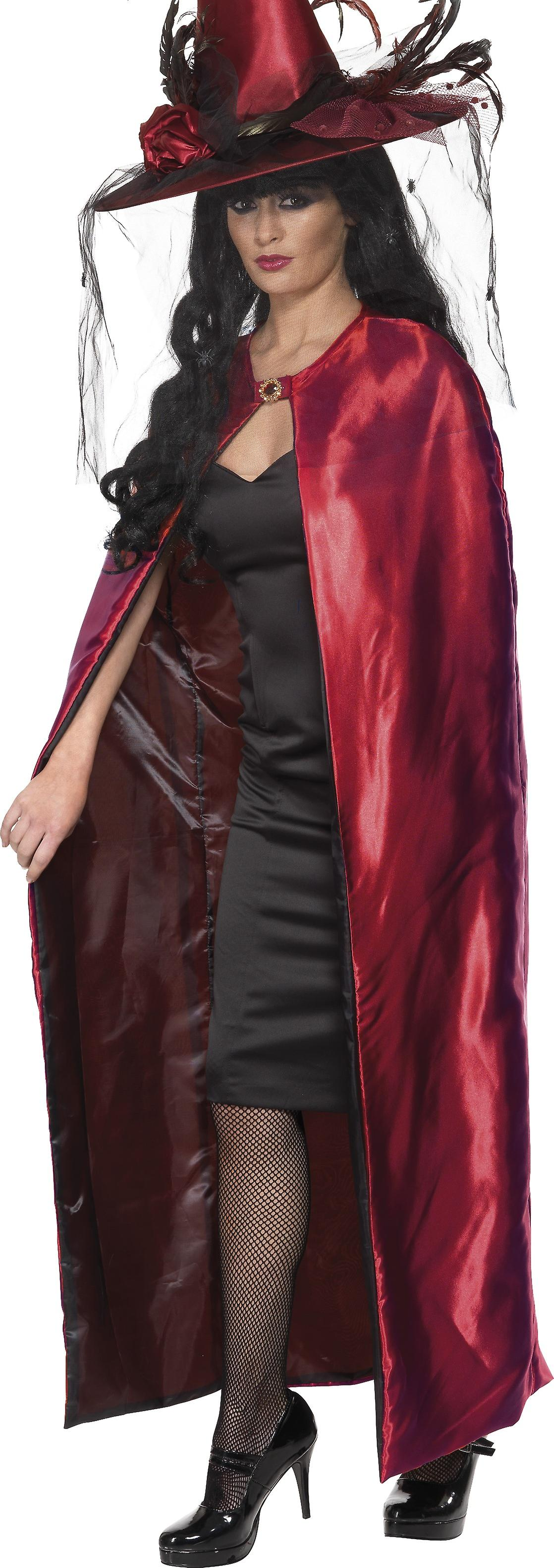 Smiffys Reversible Red Black Cape Halloween Fancy Dress Costume Accessory