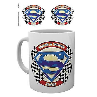 Superman Fathers Day Mug You're a Winner Dad Mug