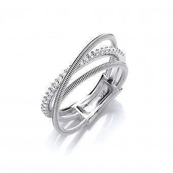 Cavendish French Silver and CZ Wrap Ring