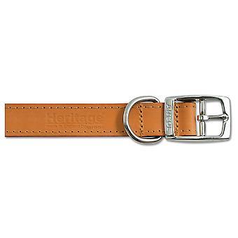 Heritage Leather Collar Tan 25mm X45-54cm Sz 6