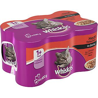 Whiskas Can Gravy Mixed Selection 6x400g (Pack of 4)