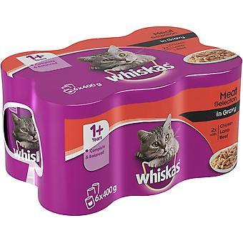 Whiskas kan såsen blandat urval 6x400g (4-Pack)