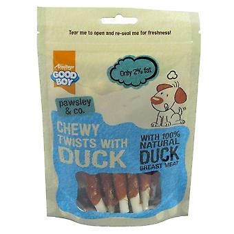 Good Boy Pawsley & Co Chewy Twists With Duck 90g (Pack of 10)