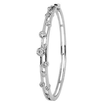Burgmeister bangle JBM2007-511, 925 sterling silver rhodanized, white zirconia