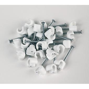 PROOVE cable clips TELE 3x5mm white/25