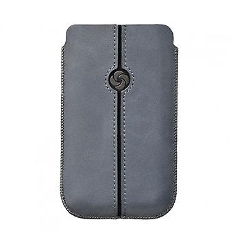 SAMSONITE DEZIR Mobile bag leather Grey to tex iP5 Highway