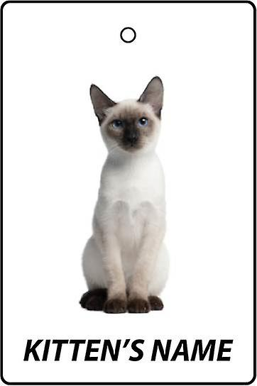 Personalised Thai Kitten Car Air Freshener