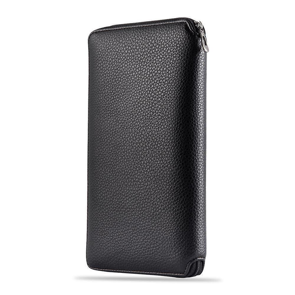 InventCase PU läder RFID-blockerande pass / ID-kort / arrangören innehavaren pengar plånbok fallet täcker för Portugal / portugisiska pass - svart