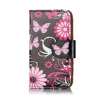 Design book wallet PU leather case for Nokia Lumia 1320 - Gerbera