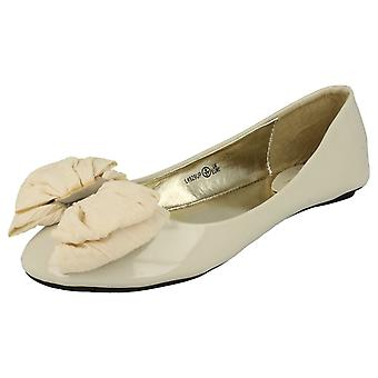 Ladies Anne Michelle Bow Detail Ballet Shoes