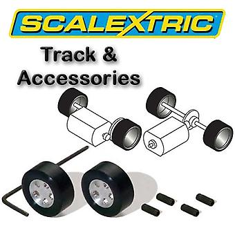 Scalextric Accessories - Classic Pack of 2 Hubs & Tyres