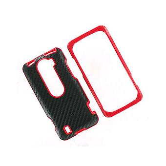 OEM HTC MyTouch Slide 4G Hard Shell Case - Black/Fire Red