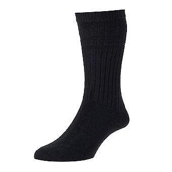 1 Pair of Mens HJ Hall Softop Loose Wide Top Non Elastic Thick Wool Rich Socks