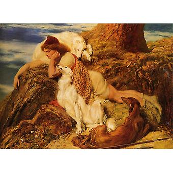 Brit Riviere - Endymion Poster Print Giclee