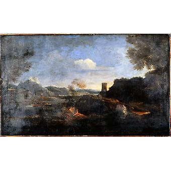 Poussin Nicolas - Landscape Poster Print Giclee
