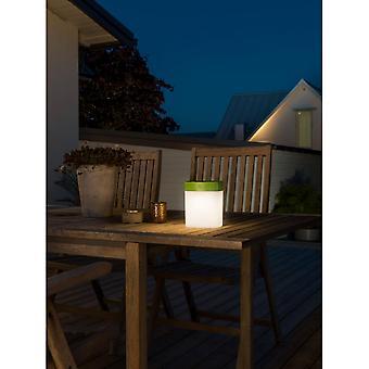 Konstsmide Solar Powered Dimmable LED Garden Table Light, Green