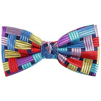 Knightsbridge Neckwear Rectangles Silk Bow Tie - Multi-colour